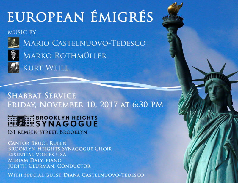 European Emigrees at Brooklyn Heights Synagogue – Judith Clurman