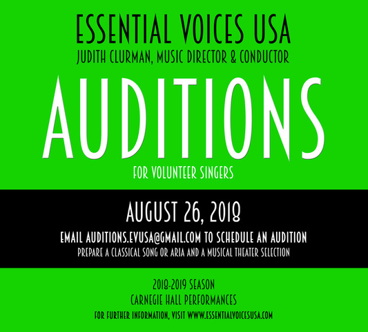 EVUSA Auditions 2018